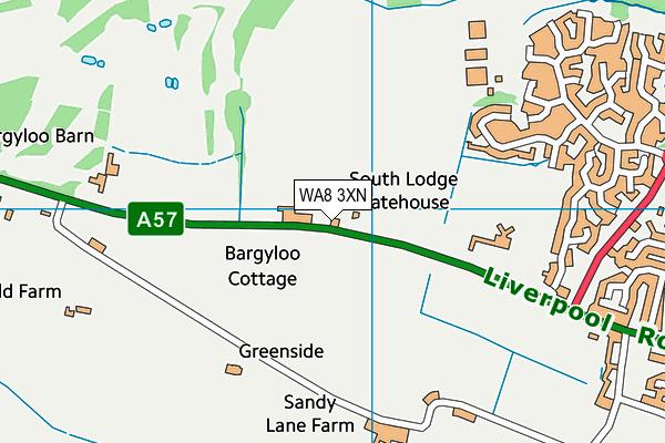 WA8 3XN map - OS VectorMap District (Ordnance Survey)