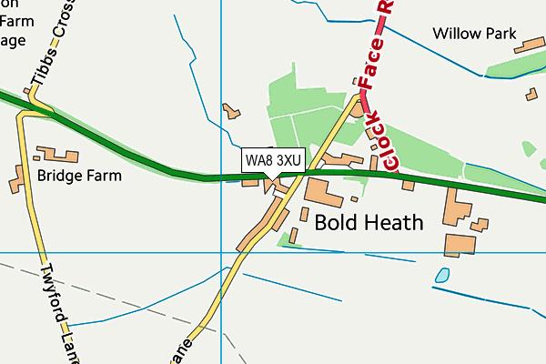 WA8 3XU map - OS VectorMap District (Ordnance Survey)