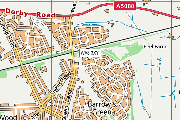 WA8 3XY map - OS VectorMap District (Ordnance Survey)