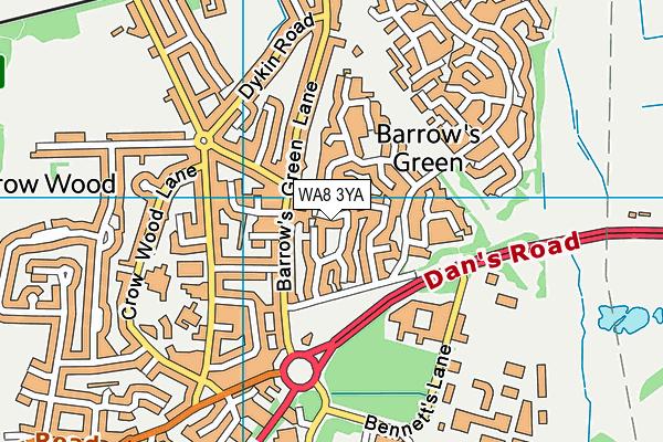 WA8 3YA map - OS VectorMap District (Ordnance Survey)