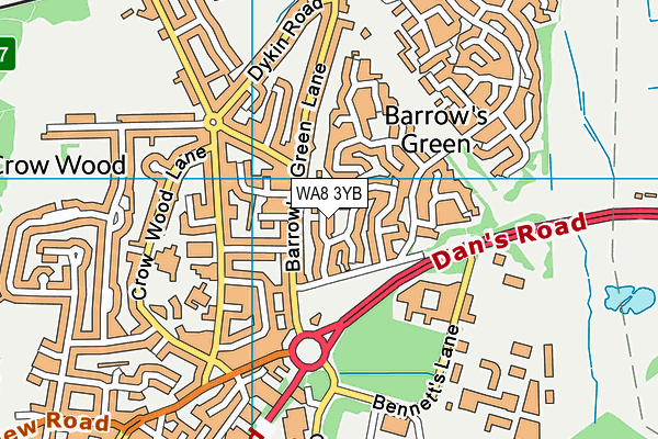 WA8 3YB map - OS VectorMap District (Ordnance Survey)