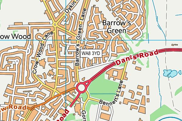 WA8 3YD map - OS VectorMap District (Ordnance Survey)