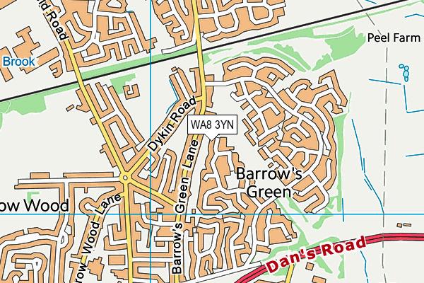 WA8 3YN map - OS VectorMap District (Ordnance Survey)