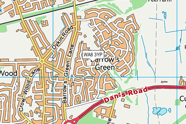 WA8 3YP map - OS VectorMap District (Ordnance Survey)