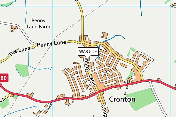Cronton Church of England Primary Academy map (WA8 5DF) - OS VectorMap District (Ordnance Survey)
