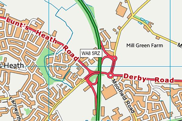 WA8 5RZ map - OS VectorMap District (Ordnance Survey)