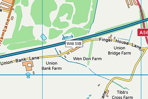 WA8 5XB map - OS VectorMap District (Ordnance Survey)