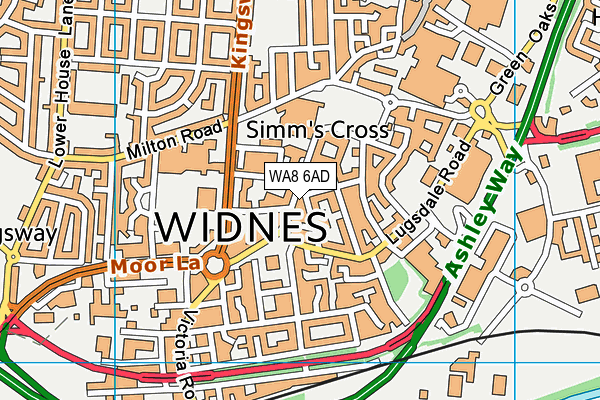 WA8 6AD map - OS VectorMap District (Ordnance Survey)