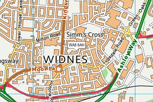 WA8 6AH map - OS VectorMap District (Ordnance Survey)