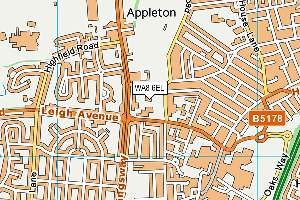 St Bede's Catholic Infant School map (WA8 6EL) - OS VectorMap District (Ordnance Survey)