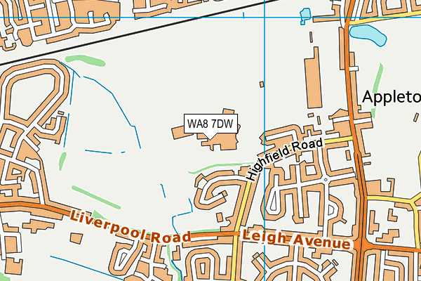 Saints Peter and Paul Catholic High School map (WA8 7DW) - OS VectorMap District (Ordnance Survey)