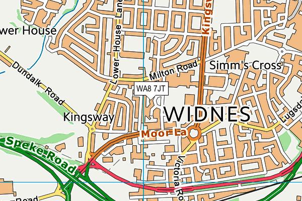 WA8 7JT map - OS VectorMap District (Ordnance Survey)