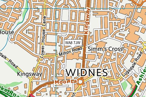 WA8 7JW map - OS VectorMap District (Ordnance Survey)