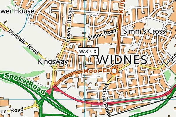 WA8 7JX map - OS VectorMap District (Ordnance Survey)