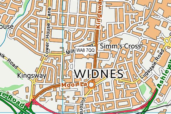 Riverside College Halton map (WA8 7QQ) - OS VectorMap District (Ordnance Survey)