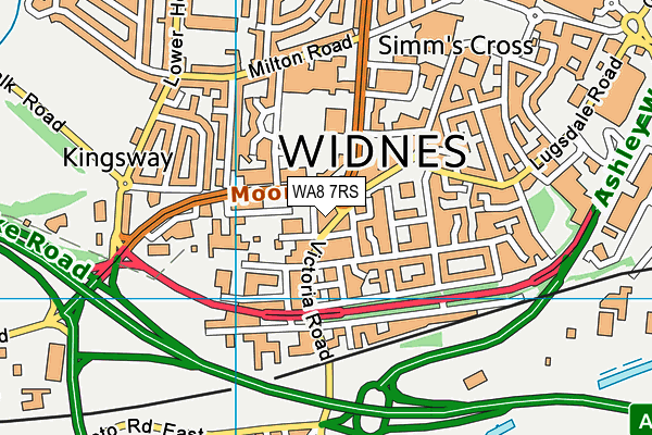 WA8 7RS map - OS VectorMap District (Ordnance Survey)