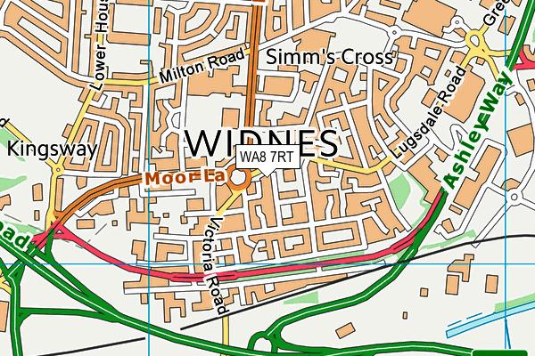 WA8 7RT map - OS VectorMap District (Ordnance Survey)