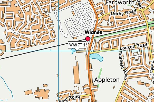 Birchfield Nursery School map (WA8 7TH) - OS VectorMap District (Ordnance Survey)