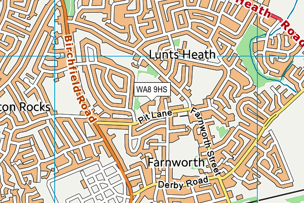 Farnworth Church of England Controlled Primary School map (WA8 9HS) - OS VectorMap District (Ordnance Survey)