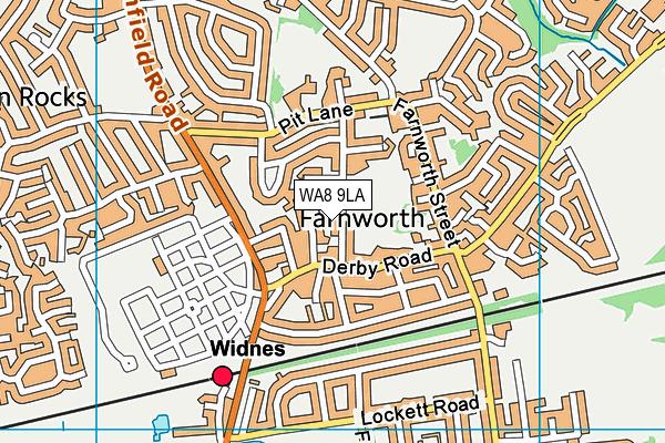 Widnes Cricket Club map (WA8 9LA) - OS VectorMap District (Ordnance Survey)