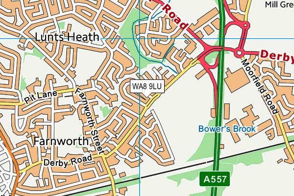 WA8 9LU map - OS VectorMap District (Ordnance Survey)