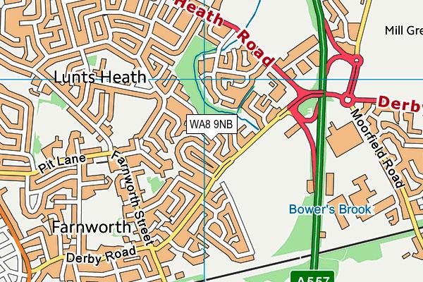 WA8 9NB map - OS VectorMap District (Ordnance Survey)