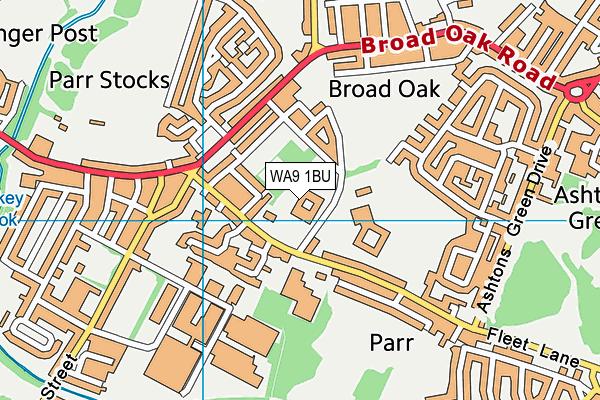 Mill Green School map (WA9 1BU) - OS VectorMap District (Ordnance Survey)