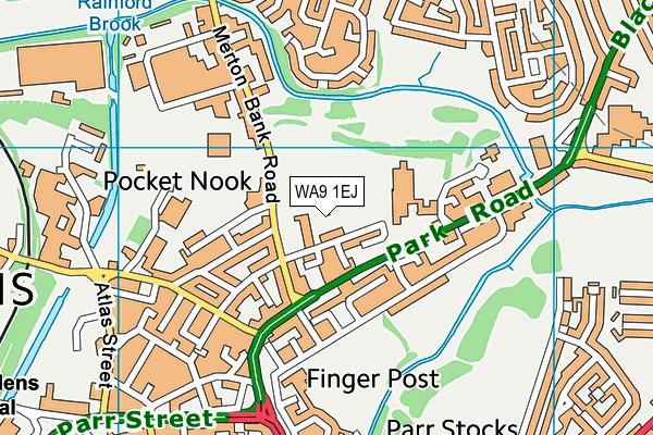 Merton Bank Primary School map (WA9 1EJ) - OS VectorMap District (Ordnance Survey)