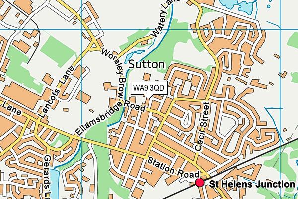 Sutton Oak CofE Primary School map (WA9 3QD) - OS VectorMap District (Ordnance Survey)