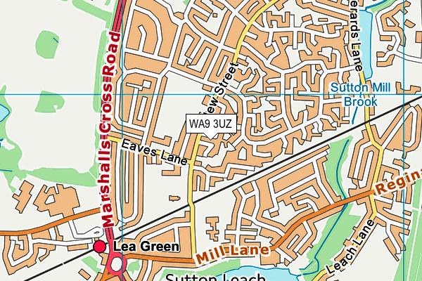 WA9 3UZ map - OS VectorMap District (Ordnance Survey)