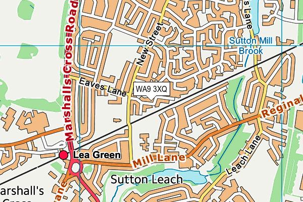 WA9 3XQ map - OS VectorMap District (Ordnance Survey)