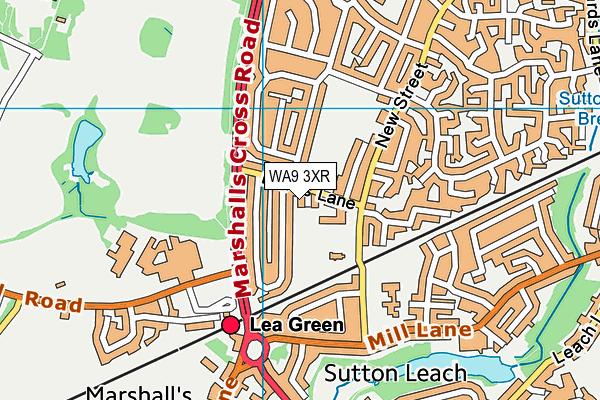 WA9 3XR map - OS VectorMap District (Ordnance Survey)