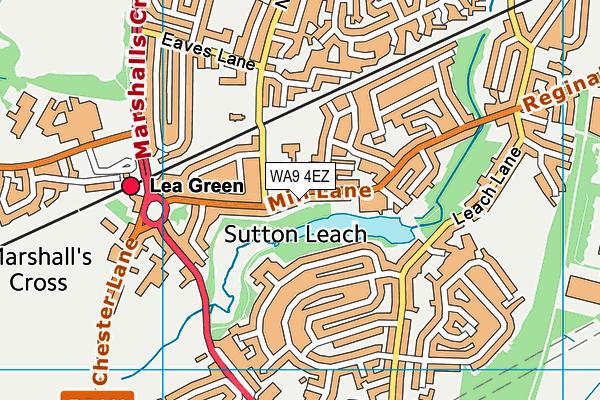 WA9 4EZ map - OS VectorMap District (Ordnance Survey)