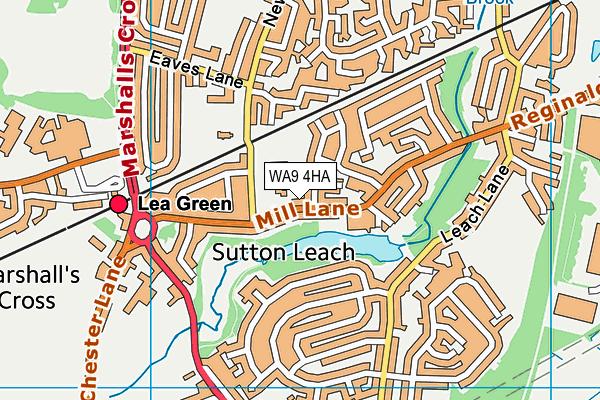 Sherdley Primary School map (WA9 4HA) - OS VectorMap District (Ordnance Survey)