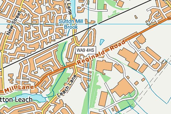 WA9 4HS map - OS VectorMap District (Ordnance Survey)