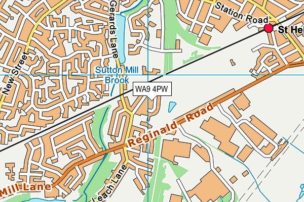 WA9 4PW map - OS VectorMap District (Ordnance Survey)