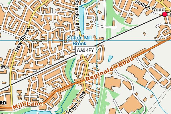 WA9 4PY map - OS VectorMap District (Ordnance Survey)