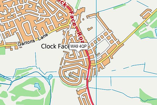 WA9 4QP map - OS VectorMap District (Ordnance Survey)