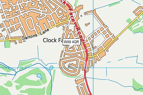 WA9 4QR map - OS VectorMap District (Ordnance Survey)