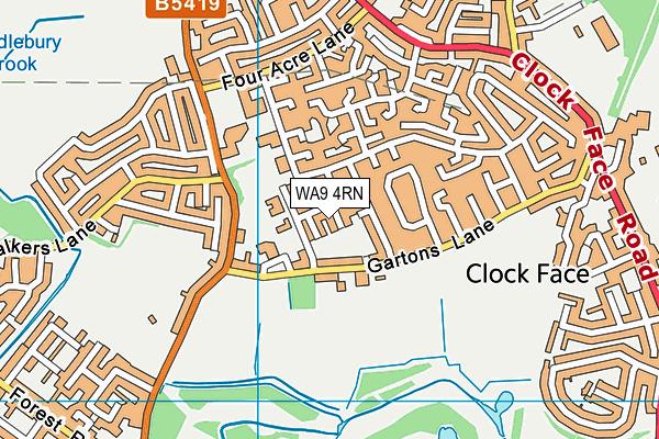 WA9 4RN map - OS VectorMap District (Ordnance Survey)