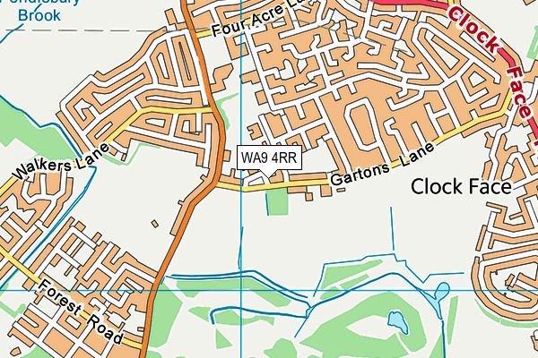 WA9 4RR map - OS VectorMap District (Ordnance Survey)