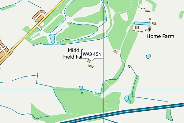WA9 4SN map - OS VectorMap District (Ordnance Survey)