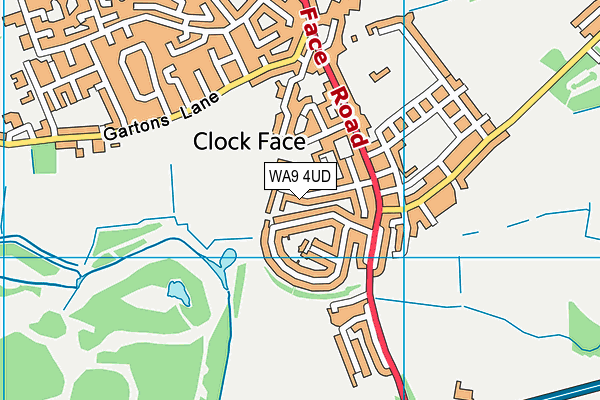WA9 4UD map - OS VectorMap District (Ordnance Survey)