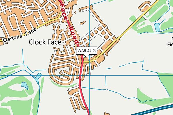 WA9 4UG map - OS VectorMap District (Ordnance Survey)