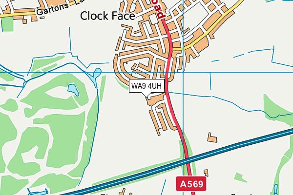 WA9 4UH map - OS VectorMap District (Ordnance Survey)
