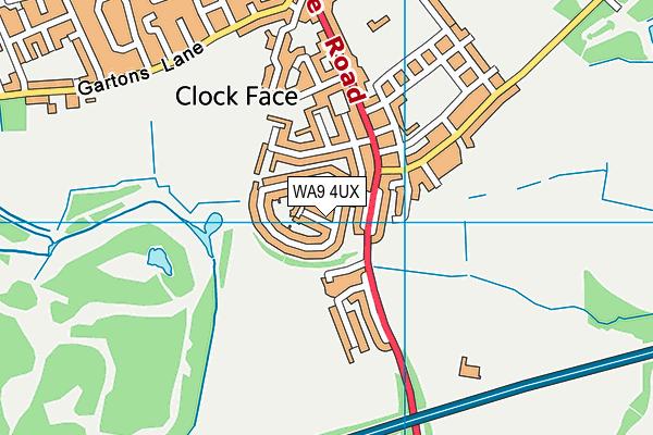 WA9 4UX map - OS VectorMap District (Ordnance Survey)