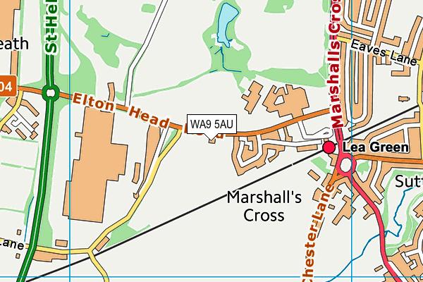 The Sutton Academy map (WA9 5AU) - OS VectorMap District (Ordnance Survey)