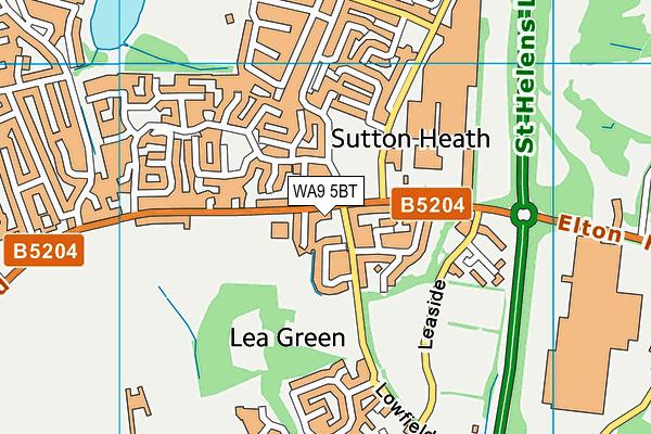 St John Vianney Catholic Primary School map (WA9 5BT) - OS VectorMap District (Ordnance Survey)