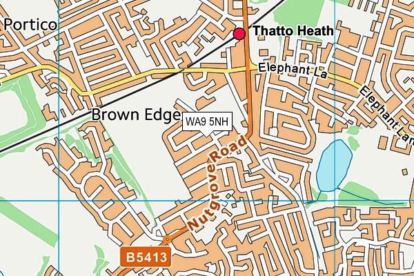 Nutgrove Methodist Primary School map (WA9 5NH) - OS VectorMap District (Ordnance Survey)