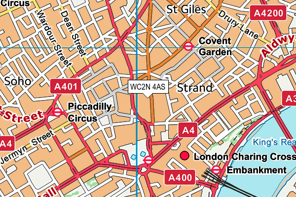 WC2N 4AS maps, stats, and open data Drury Lane London Map on